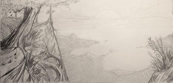 Donnez de la profondeur vos paysages blog - Dessiner un paysage ...